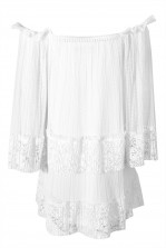 TFNC Cloudy White Dress
