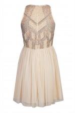 Lace & Beads Peach Nude Dress