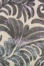 TFNC Paris Silver Flower Sequin Dress