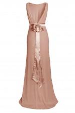TFNC Halannah Dark Nude Maxi Dress