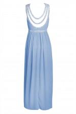 TFNC Helana Blue Maxi Embellished Dress