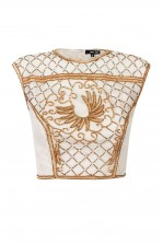 Lace & Beads Carol Cream Top