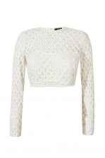 Lace & Beads Carmel Cream Top
