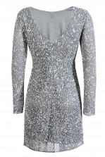 Lace & Beads Porscha Grey Embellished Dress