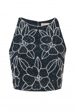 Lace & Beads Danty Navy Top