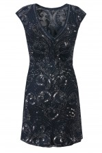 Lace & Beads Austin Navy Embellished Dress