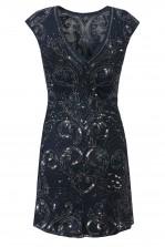 Lace & Beads Austin Navy Embellished Dress