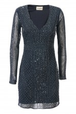 Lace & Beads Lanta Navy Embellished Dress