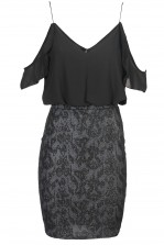 TFNC Ellya Black Cami Dress
