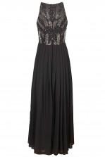Lace & Beads Trudi Dark Grey Maxi Dress
