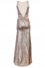 TFNC Fatima Rose Gold Maxi Dress