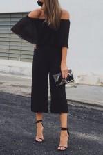 TFNC Arianne Black Culottes Jumpsuit