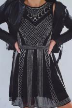 Lace & Beads Dolores Black Embellished Dress