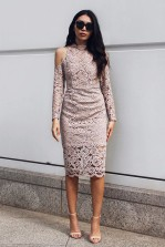 TFNC Kay Taupe Dress