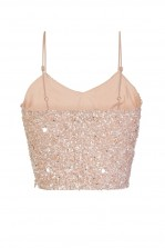 Lace & Beads Sandy Pink Sequin Top