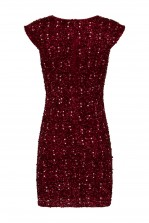 Lace & Beads Spica Burgundy Sequin Dress