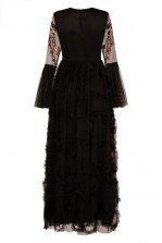 Lace & Beads Kya Black Maxi Dress