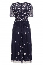 Lace & Beads Baby Navy Dress