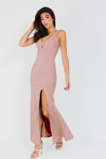 WalG Deep V Pink Maxi Dress