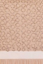 Lace & Beads Garnet Nude Maxi Dress