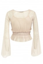 Lace & Beads Pia Nude Top