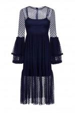 Lace & Beads Raven Black Sheer Dress