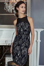 TFNC Remy Black Sequin Dress