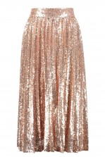 TFNC Boho Rose Gold Sequin Skirt