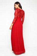 TFNC Sabera Winter Wine Maxi Dress