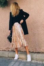TFNC Boho Rose Gold Sequin Skirt