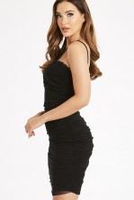 Skirt & Stiletto Amber Black Dress with Lace Midi Dress