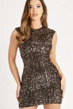 Skirt & Stiletto Tia Black and Cooper Sequin Backless Mini Dress