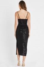 Skirt & Stiletto Milan Black Sequin Midi Dress