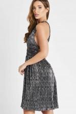 Skirt & Stiletto Amelia Black Metallic Skater Mini Dress
