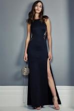 TFNC Sofia Lace Black  Maxi Dress