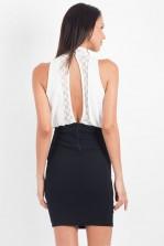 TFNC Jema High Neck Blouson Dress
