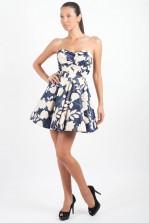 TFNC Tibi Floral Bandeau Prom Dress
