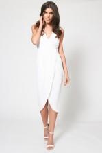 TFNC Deborah White Midi Dress