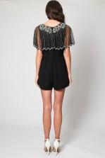 Lace & Beads Jodie Black Playsuit
