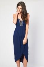 TFNC Phoebe Navy Bandeau Midi Dress