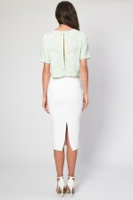 Lace & Beads Flower Mint Top