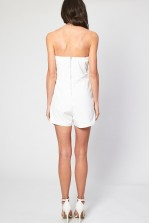 TFNC Staley White Playsuit