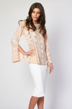 Lace & Beads Pink Liberty Top