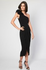 TFNC Isabelle Black Corsage Dress