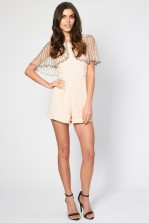 Lace & Beads Jodie Pink Playsuit