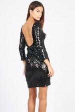 TFNC Francis Black Sequin Dress