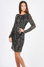 Lace & Beads Brooklyn Black Embellished Dress