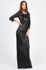 TFNC Luna Black Sequin Maxi Dress