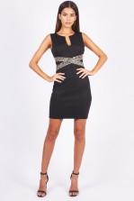 TFNC Nilia Black Mini Dress