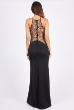 TFNC Sofia Gold Lace Maxi Dress